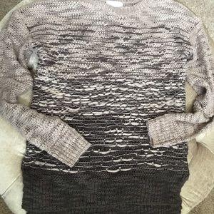 Ombré tunic sweater L